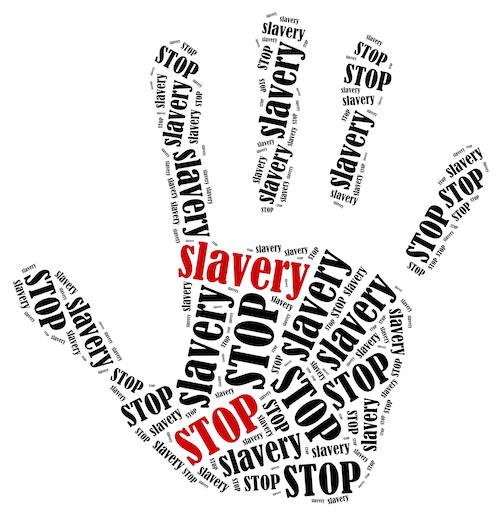 stop slavery hand